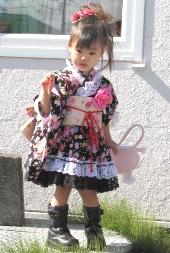 華やかな着物ドレス