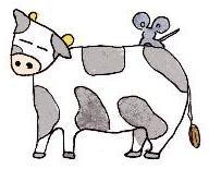 牛さんの背中にこっそりと…